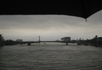 201301DP germany cologne kennedy bridge umbrella river rhine